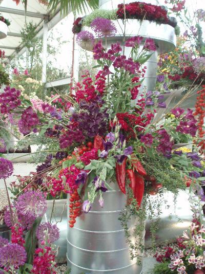 Blomsteroppsats med chilli