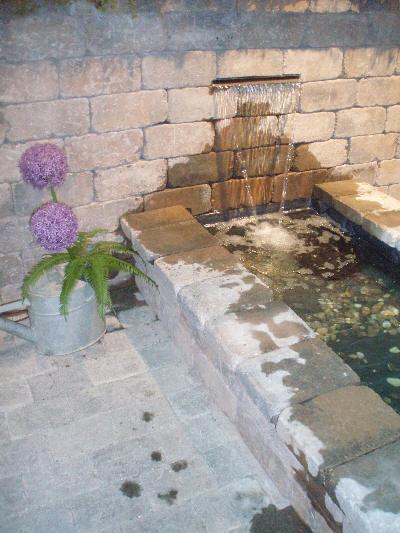Andre materialer til fontene