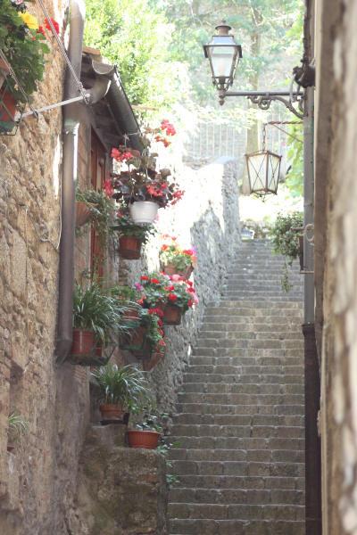 En nydelig trappegang i Toscana
