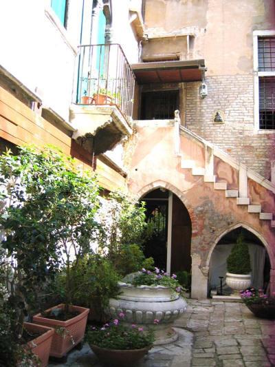 En bakgård i Venezia