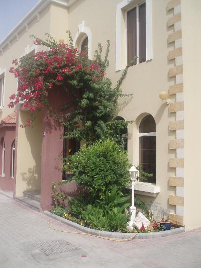 Blomstrende inngangsparti i Quatar