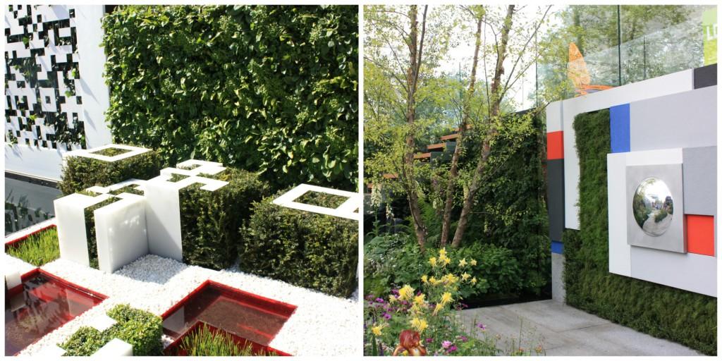 Fra Chelsea Flower Show 2012 og 2014: Kunst på veggene