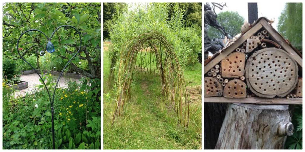 Små kunstverk i hagen